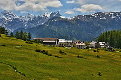 Swiss Alps-outlook of the Bos-cha Royalty Free Stock Photo