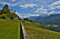 Swiss Alps-outlook from the Guarda Royalty Free Stock Photography