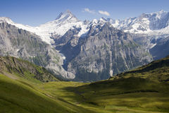 Swiss Alps panorama II Royalty Free Stock Images