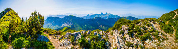 Swiss Alps Panoramic View Stock Photos