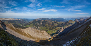 Swiss Alps Panoramic View II Royalty Free Stock Image