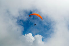 Swiss Alps paraglider Royalty Free Stock Photos