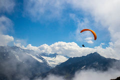 Swiss Alps paraglider Stock Images
