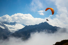 Swiss Alps paraglider Royalty Free Stock Photography