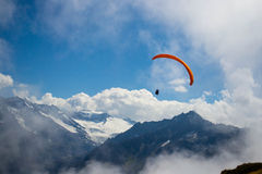 Swiss Alps paraglider Stock Photos