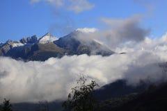 Swiss Alps peaks Stock Photo