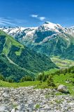 Swiss Alps. Resort Engelberg. Traveling on foot through the Swis. S countryside and mountain tops Stock Photos