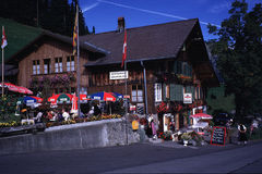 Swiss Alps Restaurant Stock Photography