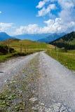 Swiss Alps road Stock Photos