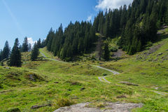 Swiss Alps road Royalty Free Stock Photos