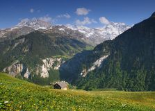 Swiss Alps , Ruchen Royalty Free Stock Images