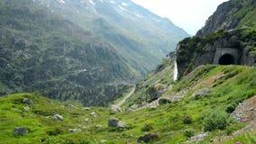 Swiss Alps Scenic Landscape. Switzerland Mountains Scenery. Europe. stock footage