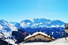 Swiss Alps and shed. Mountain landscape Stock Photo