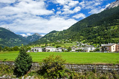 In Swiss Alps. A small village in the picturesque Swiss Alpes Stock Photography