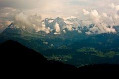 Swiss Alps snowy peaks Stock Photos