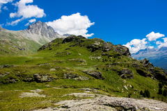 Swiss alps. Summer day in Swiss alps royalty free stock photos