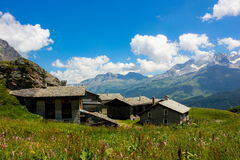 Swiss alps. Summer day in Swiss alps royalty free stock image