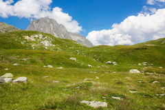 Swiss alps. Summer day in Swiss alps royalty free stock images
