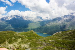 Swiss alps. Summer day in Swiss alps stock photography
