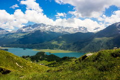 Swiss alps. Summer day in Swiss alps stock photos
