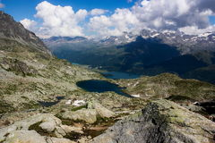 Swiss alps. Summer day in Swiss alps royalty free stock photo