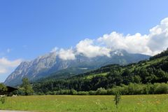 Swiss Alps summer landscape Stock Images