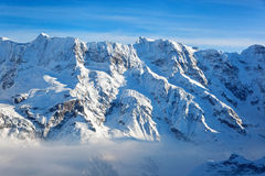 Swiss Alps, Switzerland, Europe. View from the Schilthorn (Piz Gloria), valley of Lauterbrunnen, Bernese Alps, Switzerland, Europe Royalty Free Stock Image