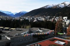 Free Swiss Alps: The Congress Center At Davos City, Where The World Economic Forum Takes Place Royalty Free Stock Image - 131641606