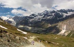 Swiss Alps. Tsmutt village, Switzerland, the Alps, Zermatt Matterhorn, trakking in Alps Stock Photography
