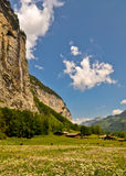 Swiss Alps Valley, Scenic Landscape Stock Photography