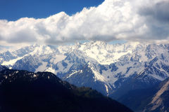 Swiss Alps, Verbier, Switzerland. Details of Mountain panorama Swiss Alps, Verbier, Switzerland Royalty Free Stock Photos