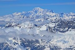 Swiss Alps. View across the Swiss Alps Royalty Free Stock Photo