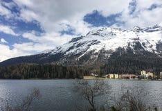 Swiss Alps view. Alps in Saint Moritz stock photos