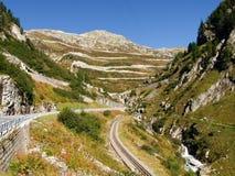 Swiss Alps, View of Grimsel pass Stock Photo