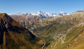 Swiss Alps, View of Grimsel pass Royalty Free Stock Images