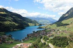 Swiss alps - view of lungernersee Stock Photography