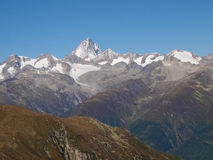 Swiss Alps, View from Nufenen pass Royalty Free Stock Photography