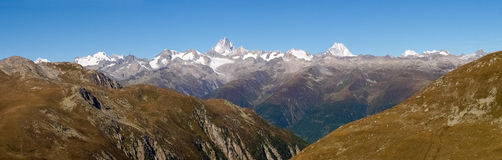 Swiss Alps, View from Nufenen pass Stock Photos