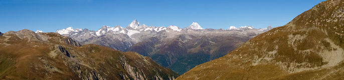 Swiss Alps, View from Nufenen pass Stock Photo