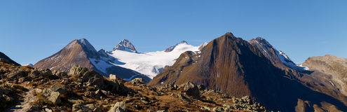 Swiss Alps, View from Nufenen pass Royalty Free Stock Image