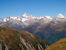 Swiss Alps, View from Nufenen pass Royalty Free Stock Photo