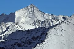 Swiss Alps: Weisshorn and Bishorn Royalty Free Stock Photo