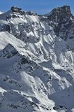 Swiss Alps. West face of the Rosablanche Royalty Free Stock Photography