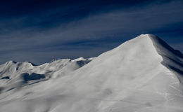 Swiss alps in winter Royalty Free Stock Photography