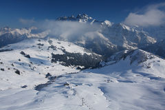 Swiss Alps in winter Royalty Free Stock Photos