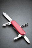 Swiss army knife. On gray background Stock Images