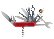 Swiss army knife, isolated Stock Photo