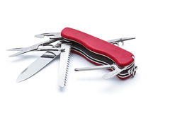 Swiss army knife isolated Stock Photos