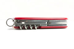 Swiss army knife open Royalty Free Stock Photo