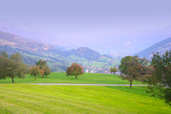 Swiss autumn hills Stock Photo
